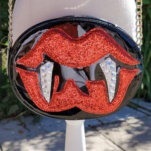 Betsey Johnson vampire lips crossbody Hallow
